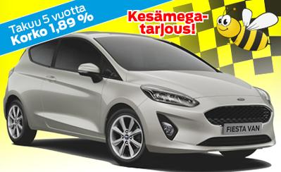 Pieneen ja vähän suurempaankin kuljetukseen uusi Ford Fiesta VAN! 5 vuoden takuulla ja 1,89 % korolla vain 17.409 €!
