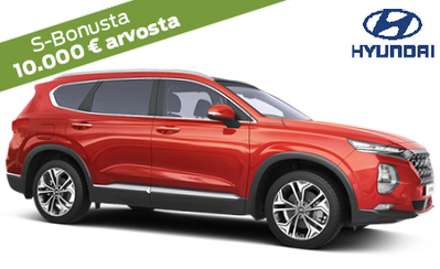 Uusi Hyundai Santa Fe 4Edition -mallisto 7 vuoden takuulla 49.990 €. Korko 0 %, maksuaikaa jopa 72 kk, 6 kk maksuvapaata!