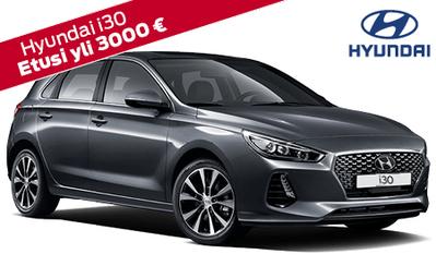 Rajoitettu 10 kpl erä! Hyundai i30 mahtavilla lisävarusteilla 18.990 €, yli 3000 € eduilla! Korko 1,49 %, takuu 7 vuotta!
