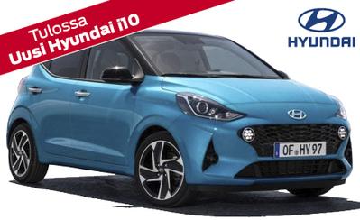 Uusi Hyundai i10 on tulossa Suomeen vuoden 2020 alussa. Auto on täynnä suuria ominaisuuksia: tilaa, ja liitettävyyspalveluja.
