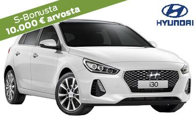 Erä! Hyundai i30 Fresh automaatti 21.990 €, yli 3600 € eduilla + S-Bonukset kaupan päälle! Korko 0 %!