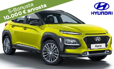 Rajoitettu erä! Hyundai Kona Comfort -malleja vain 20.980 €! Hintaetusi yli 2500 €! Korko 0 % ja S-Bonukset kaupan päälle!
