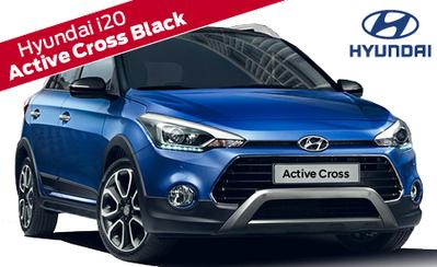 Hyundai i20 Active Cross Black automaatti 20.990 € tai ilman käsirahaa 259 €/kk! 7v. takuu, korko 1,9 % ja talvipaketti 499 €!