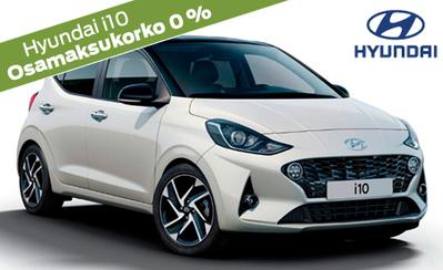 Täysin uusi Hyundai i10! Hinnat alk. 14.590 €. Rahoitustarjouksena korko 0 %, 72 kk lyhennysvapaata ja 6 kk maksuvapaata!