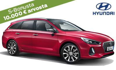 Erä Hyundai i30 Comfort Wagon automaatteja 3000 € alennuksella nyt 23.990 €! Kaikkiin Hyundai-malleihin korko 0 % ja 6 kk maksuvapaata!