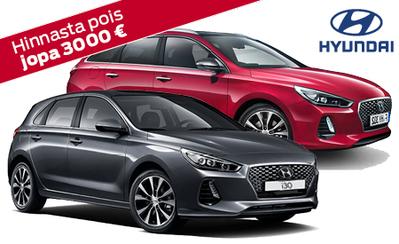 20 kpl erä Hyundai i30 Comfort automaatteja 3000 € alennuksella nyt 22.990 €! Kampanjamalliin korko 0,7 %!