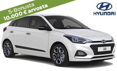 Asiakastarjouksena Hyundai i20 Fresh nyt -10% ja 10.000 € arvosta S-Bonusta! 7 vuoden takuu, korko 0 %, 6kk lyhennysvapaa!