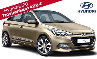 Hyundai i20 Fresh 15.990 € tai ilman käsirahaa 199 €/kk! Hyundai-mallistoon 7 vuoden takuu, korko 1,9 % ja talvipaketti 499 €!