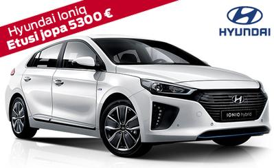 Hyundai Ioniq plug-in Hybrid Style 5300 € hintaedulla vain 32.990 €. 7 vuoden takuu, korko 1,9 %, talvirenkaat 499 €!