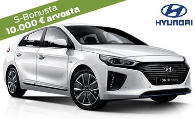 Täyssähköinen Hyundai Ioniq Electric Style 6000 € hankintatuella nyt vain 35.990 €. 7 vuoden takuu, korko 0 %, 6 kk maksuvapaata!