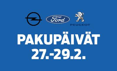 PP-autossa 27.-29.2. Pakupäivät! Koe ja testaa laaja tavara-automallistomme! Hurjat edut kaikkiin autoihin!