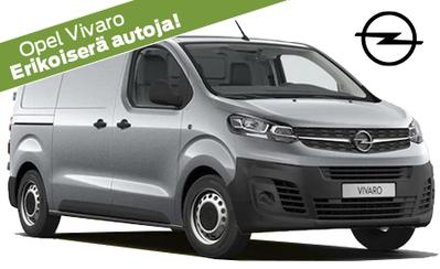 Nyt koko Opel-tavara-automallistoon rahoituskorko 0%! Rajoitettu erä Vivaro Automatic ja Launch Edition -malleja huippuhintaan!