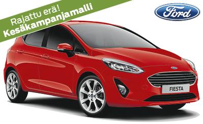 Kesäkampanjamalli Ford Fiesta Trend Edition 15.994 € tai ilman käsirahaa 189 €/kk! Osamaksukorko 1,50 % S-Bonusta 500 € ostosta!