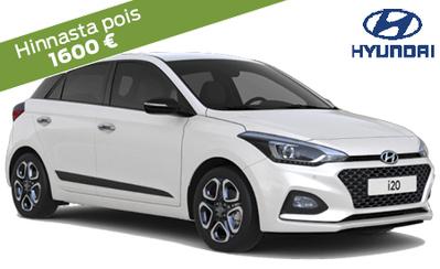 Hyundai i20 Fresh 14.390 € tai ilman käsirahaa 159 €/kk! Rajoitettu kesäerä, etusi jopa 1600 €! Korko 0 %, 6 kk maksuvapaata!