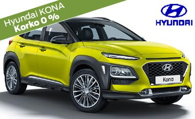 Rajoitettu erä! Hyundai Kona Comfort -malleja erikoisvarustein vain 21.480 €! Hinnasta pois yli 3500 €! Korko 0 % ja 6 kk maksuvapaata!