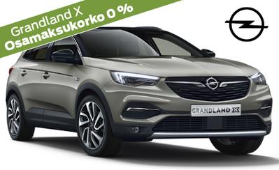 Uusi voimakas Opel Grandland X Power Edition -mallisto alk. 34.996 €! Koko Opel-mallistoon korko 0 % ja 3 kk lyhennysvapaata!