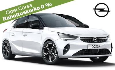 Opel Corsa alk. 15.990 € tai esim. 179 €/kk. Nyt koko Opel-mallistoon korko 0 % ja 3 kk lyhennysvapaata! Takuu 5 vuotta!