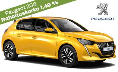 Peugeot 208 Juhlamalli vain 20.993 €. Automaatti veloituksetta! Korko 1,49 % ja 6 kk lyhennysvapaa! 5 vuoden takuu veloituksetta!