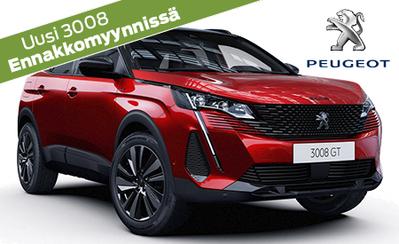 Ennakkomyynnissä uusi Peugeot 3008 juhlamalli! Ennakkotilaajan edulla automaattimalli hintaan 34.995 €! Osamaksukorko 1,49 %