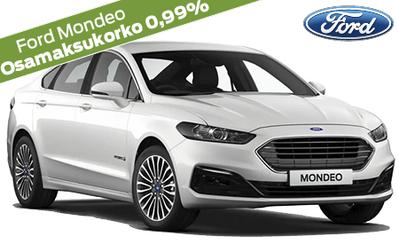Ford Mondeo Hybrid alk. 35.895 €. Koko Ford-mallistoon korko 0,99 % ja 1000 € alennus esim. lisävarusteisiin! Takuu 5 vuotta!