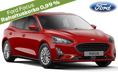 Ford Focus alk. 22.723 €. Koko Ford-mallistoon korko 0,99 % ja 1000 € alennus esim. lisävarusteisiin! Takuu 5 vuotta!