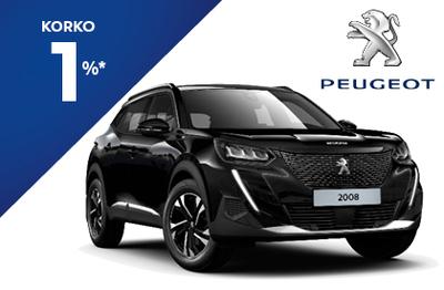 Peugeot 2008 210  Anniversary -juhlamalli 1 % korolla ja 6 kk lyhennysvapaata!