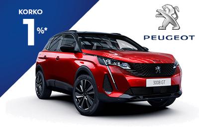 Peugeot 3008 210 Anniversary -juhlamalli 1% korolla