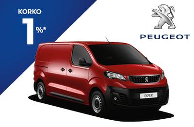 Peugeot Expert BlueHDi 120 EAT8-automaaatti M. 1% korolla ja 6 kk lyhennysvapaata!