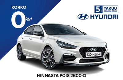 Rajoitettu erä i30 Fastback N Line:ja ja hinnasta pois 2600 €!