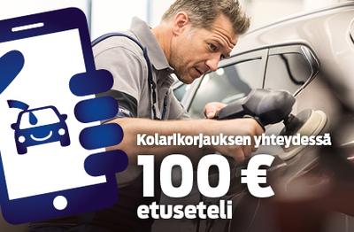 Kolarikorjauksen yhteydessä 100 € etuseteli!