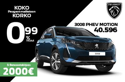 Uusi Peugeot 3008 PHEV MOTION 1 389 € edulla!