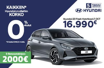 Rajoitettu erä Hyundai i20-malleja. ETUSI 1400 €!