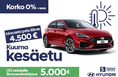 Hinnasta pois lähes 4.500 €. NOLLA korolla + kulut. Lisänä 5 000 € Bonusostokirjaus.