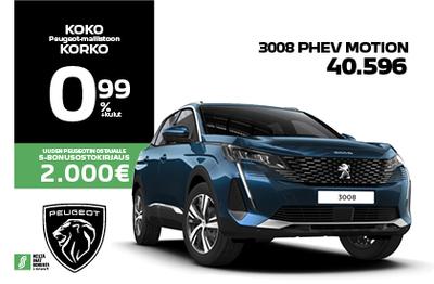 3008 PHEV motion ILMAN KÄSIRAHAA 379 € / kk!