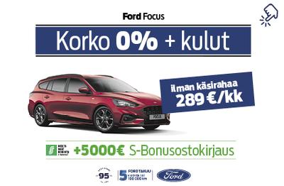 Ford Focus 0% korolla+ kulut. Kaupan päälle 5000€ S-Bonusostokirjaus!
